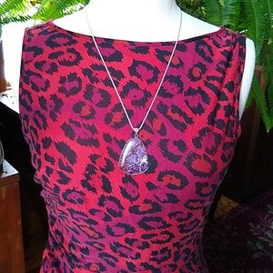 Diane Von Furstenberg Silk Cheetah Dress Sz 12